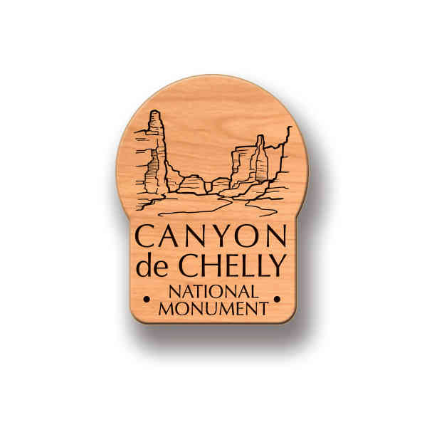 Wood Souvenir Pin